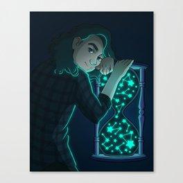 Personas Estrelladas: 12 Reloj de Arena Canvas Print