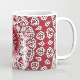 Red White Bohemian Mandala Design Coffee Mug