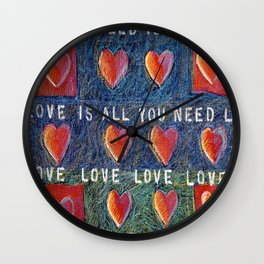 All You Need Is Love 3 Wall Clock