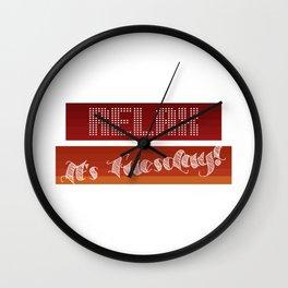 Monday Survivor Wall Clock