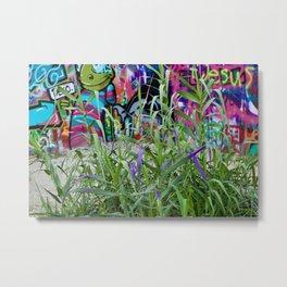 Graffiti Grass Metal Print