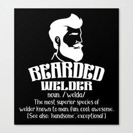 Bearded Welder Canvas Print