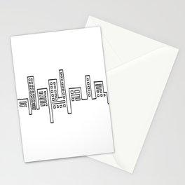 City Shape Stationery Cards