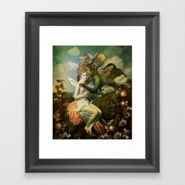 """The body, the soul and the garden of love"" Framed Art Print"