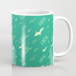 Local Upper Peninsula Verdant Green Pattern Coffee Mug