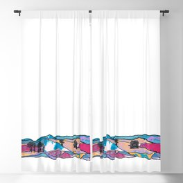 Multicolored Panorama Diptych Part 1 Blackout Curtain