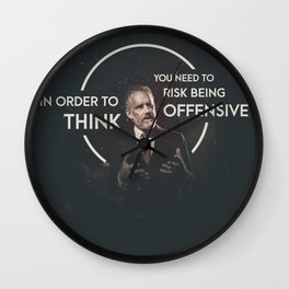Risk Being Offensive Wall Clock
