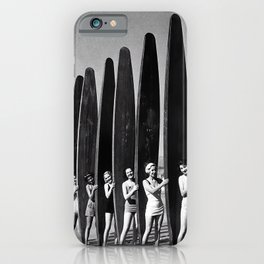 Surfers, Vintage Black and White Art iPhone Case
