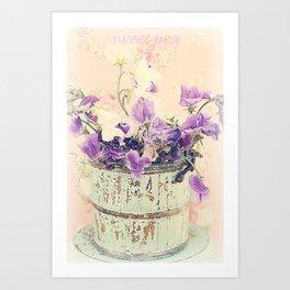 Sweet peas Art Print