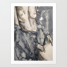 She was now inclined to be definitely pessimistic Art Print