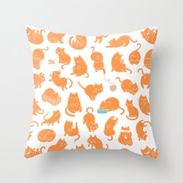 hey orange kitty Throw Pillow