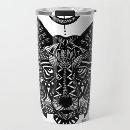 Zentangle Wolf Travel Mug