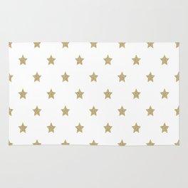 Gold Glitter Star Pattern Rug