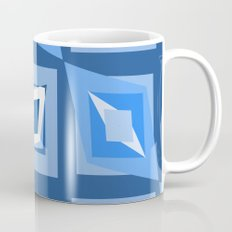 Blue and White Abstract Mug