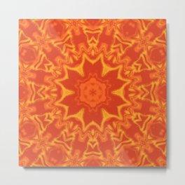 Red Orange and Yellow Kaleidoscope 5 Metal Print