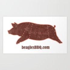 Beagle's BBQ Art Print