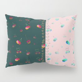 Rainbow cherries colour blocking Pillow Sham