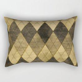 Wooden big diamond Rectangular Pillow