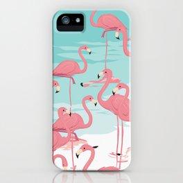 Kitschy Retro Flamingos iPhone Case
