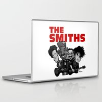 the smiths Laptop & iPad Skins featuring The Smiths (white version) by BinaryGod.com