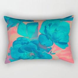 The Blue Rose Rectangular Pillow