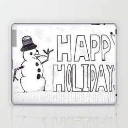 Snowman (Happy Holidays) Laptop & iPad Skin