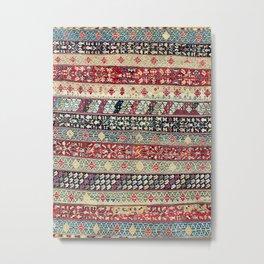 Ottoman Manisa West Anatolian Kilim Print Metal Print