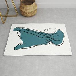 Hijab Woman 02, Single Line Art Colored Set Rug