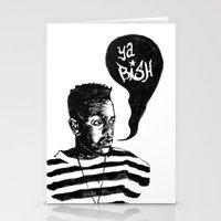 kendrick lamar Stationery Cards featuring Kendrick Lamar by Paganimal