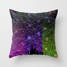 A Futurist's Starry Night Throw Pillow