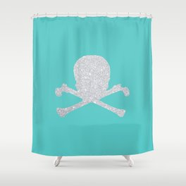 Shiny skull Shower Curtain
