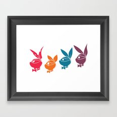 Playboy Turtles Framed Art Print