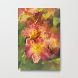 Summer Splash of Lilies Metal Print