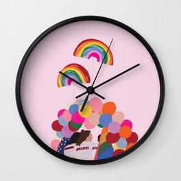 Rainbow Pride Balloons Love Wall Clock