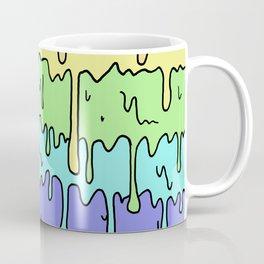 Pastel Kawaii Melting Rainbow Design Coffee Mug