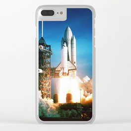 Space Shuttle Launch Clear iPhone Case