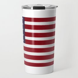 "Stars & Stripes flag, painterly ""old glory"" Travel Mug"