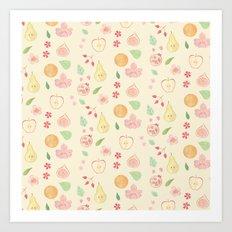 Fruit and Flora Art Print