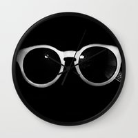 sunglasses Wall Clocks featuring Sunglasses by Abbey