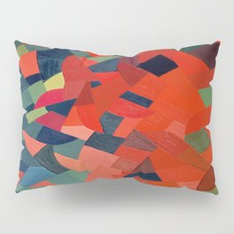 Grün-Rot Otto Freundlich 1939 Abstract Art Mid Century Modern Geometric Colorful Shapes Hard Edge Pillow Sham