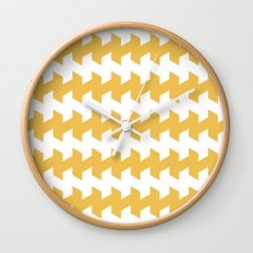 jaggered and staggered in mimosa Wall Clock