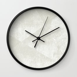 Beige / Light Warm Gray and White Geometric Ink Texture Wall Clock