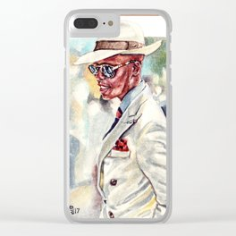 Dapper Style of Button Brothers Clear iPhone Case