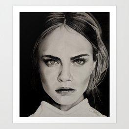 Cara Delevigne Art Print