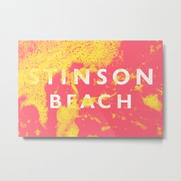 Stinson Beach Signage Metal Print