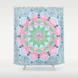 [Mandala] Lotus Pond Shower Curtain