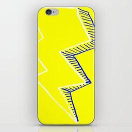 Yellow Volt Lightning iPhone Skin