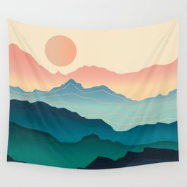 Wanderlust Gradient Mountain Wall Tapestry