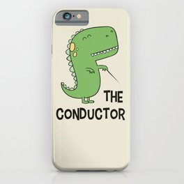 Dino The Conductor iPhone Case