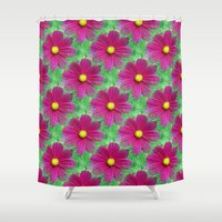 cosmos Shower Curtains featuring Cosmos by Judi FitzPatrick